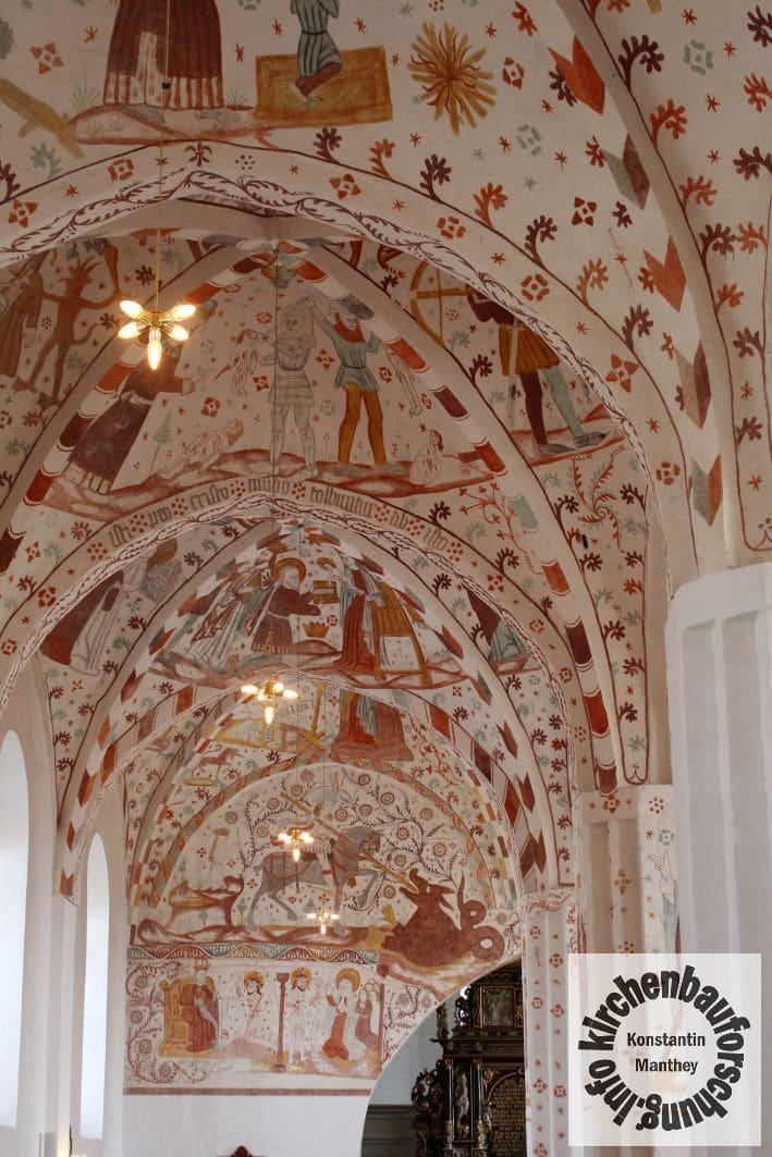 Fanefjord, Nordschiff, Fresken