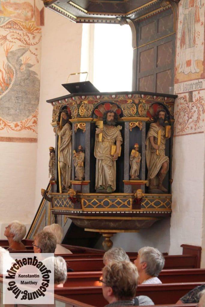 Fanefjord, Kirche, Kanzel, 1645