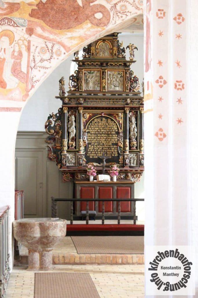 Fanefjord, Kirche, Altar, Nordschiff, 1634