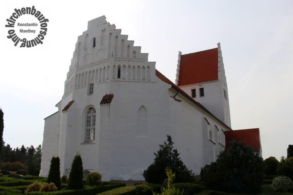 Fanefjord, Kirche, Chorseite, Ansicht
