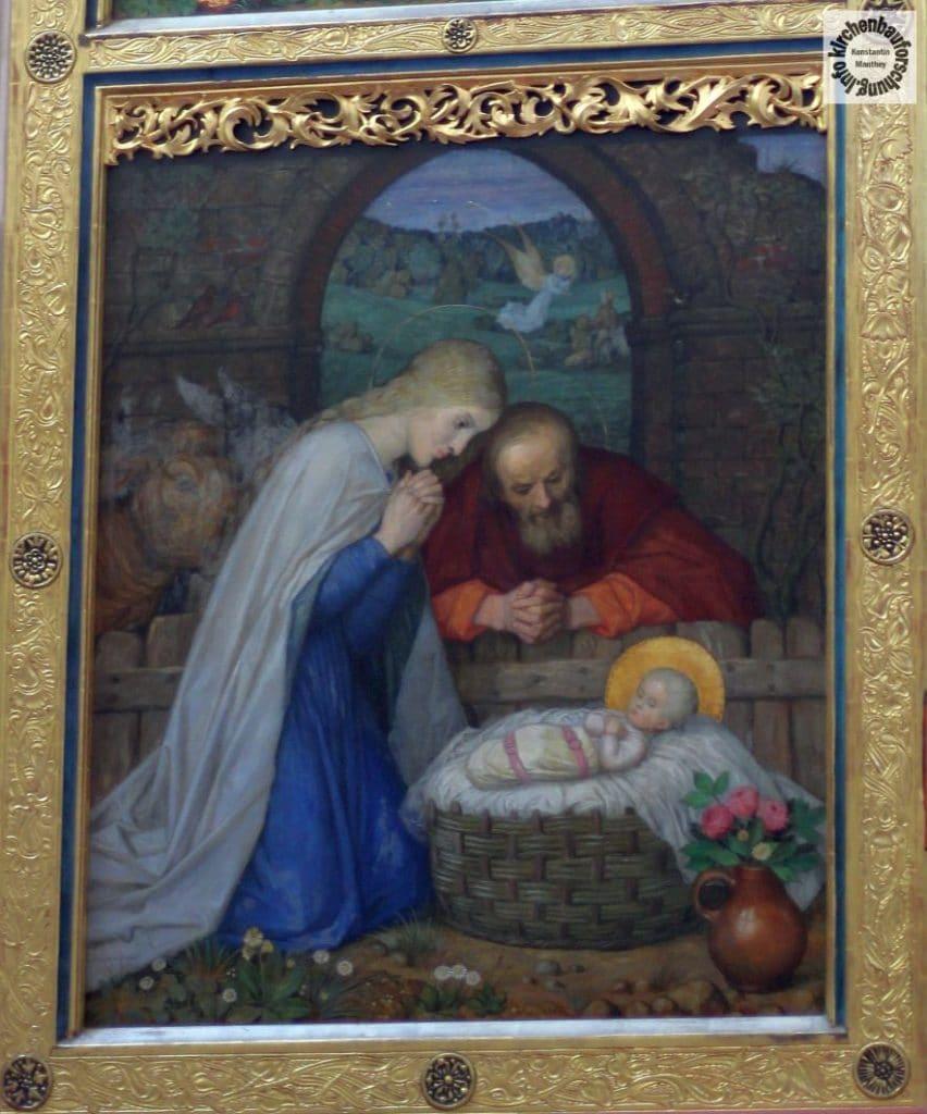 Seitenflügel, Geburt, Weihnachten