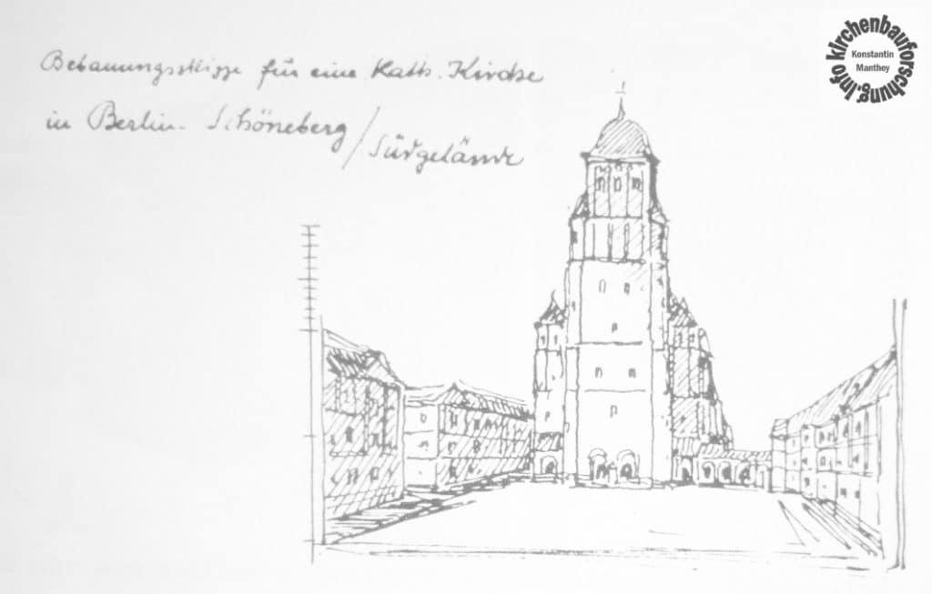 Ansicht einer Platzkirche