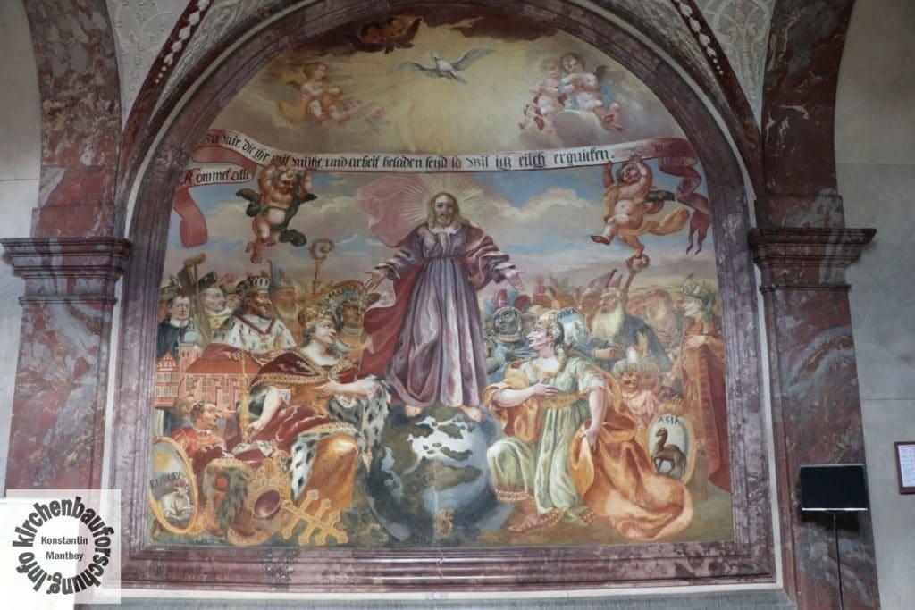 Wandbild, Fresko, Christus Pantokrator, Barock