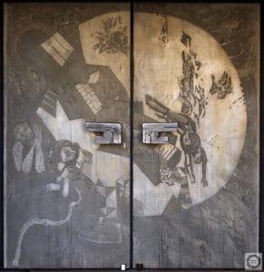 Paul Corazolla: Das Böse in der Welt, Portal an Maria Frieden, 1970 Foto: K. Manthey