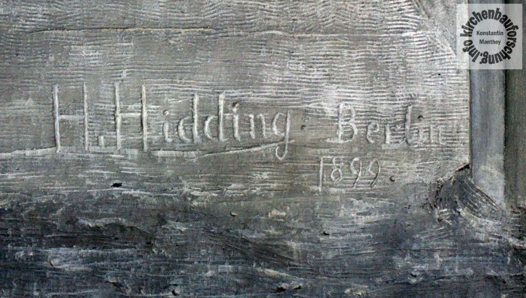 Hermann Hidding, 1899, Relief, Himmelskönigin, Frankfurt, Kirchenbauforschung, Krönung Mariens