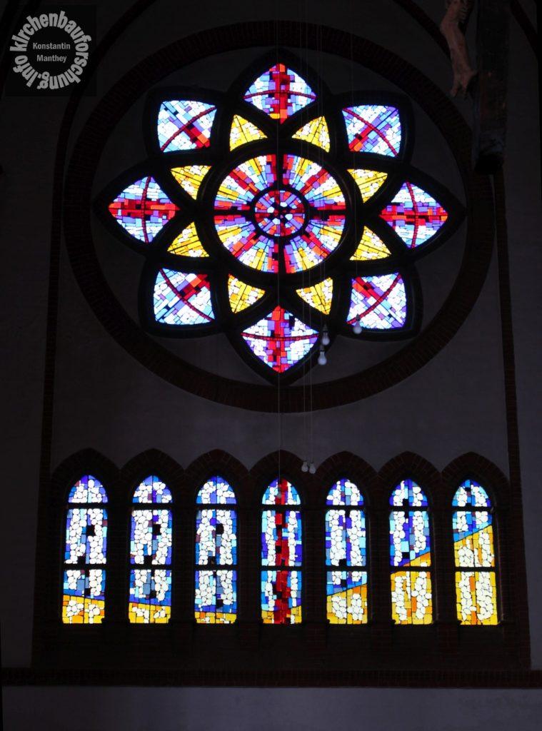 Kirchenfenster, Artur Becker, Frankfurt, Kirchenbauforschung
