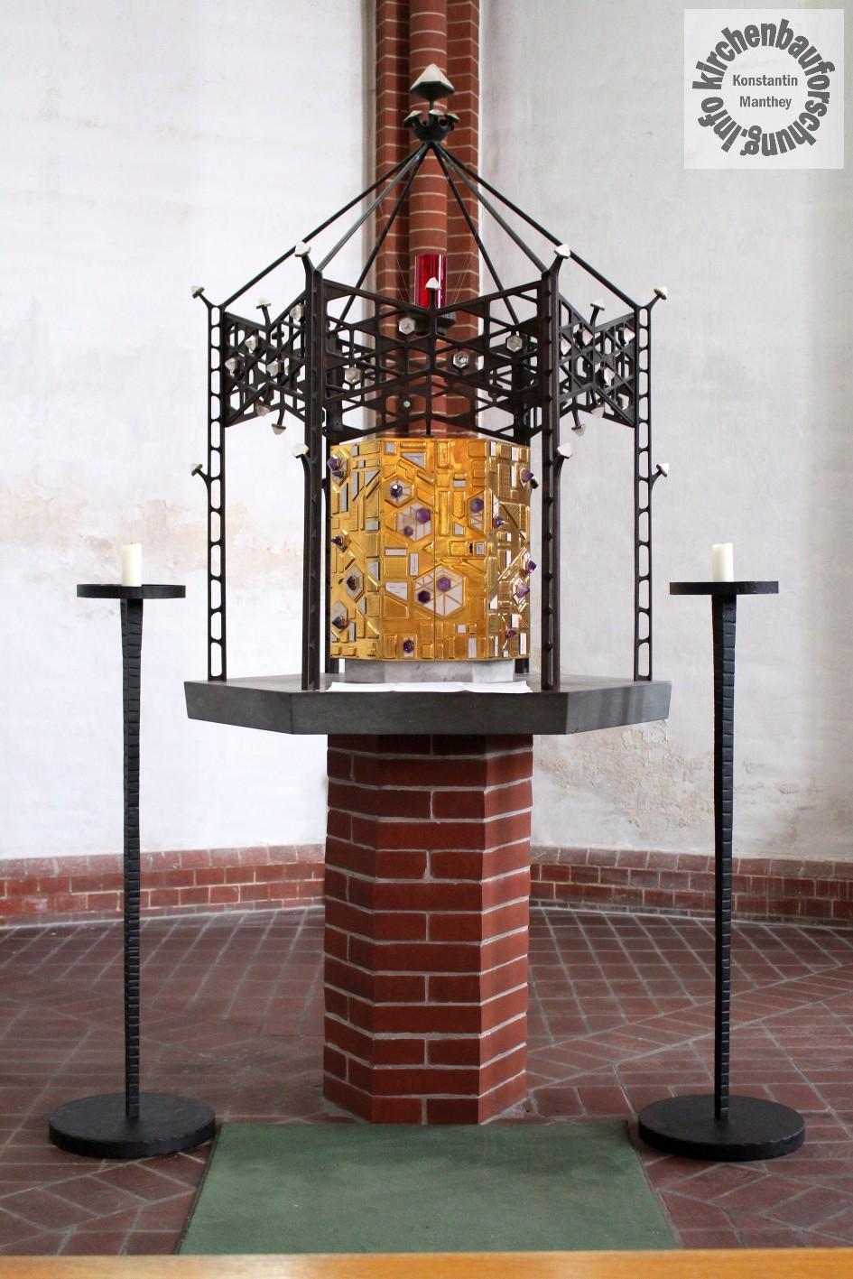 "Heilig Kreuz Frankfurt, Tabernakel ""Himmlisches Jerusalem"", Kirchenbauforschung"