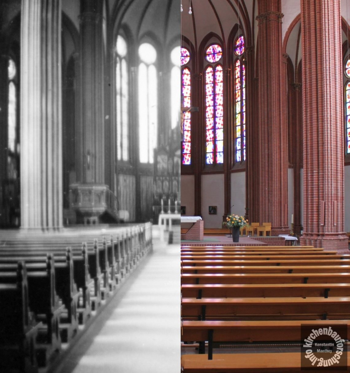 Heilig Kreuz Frankfurt, Oder, Seibertz, Kirchenbauforschung, gestern und heute