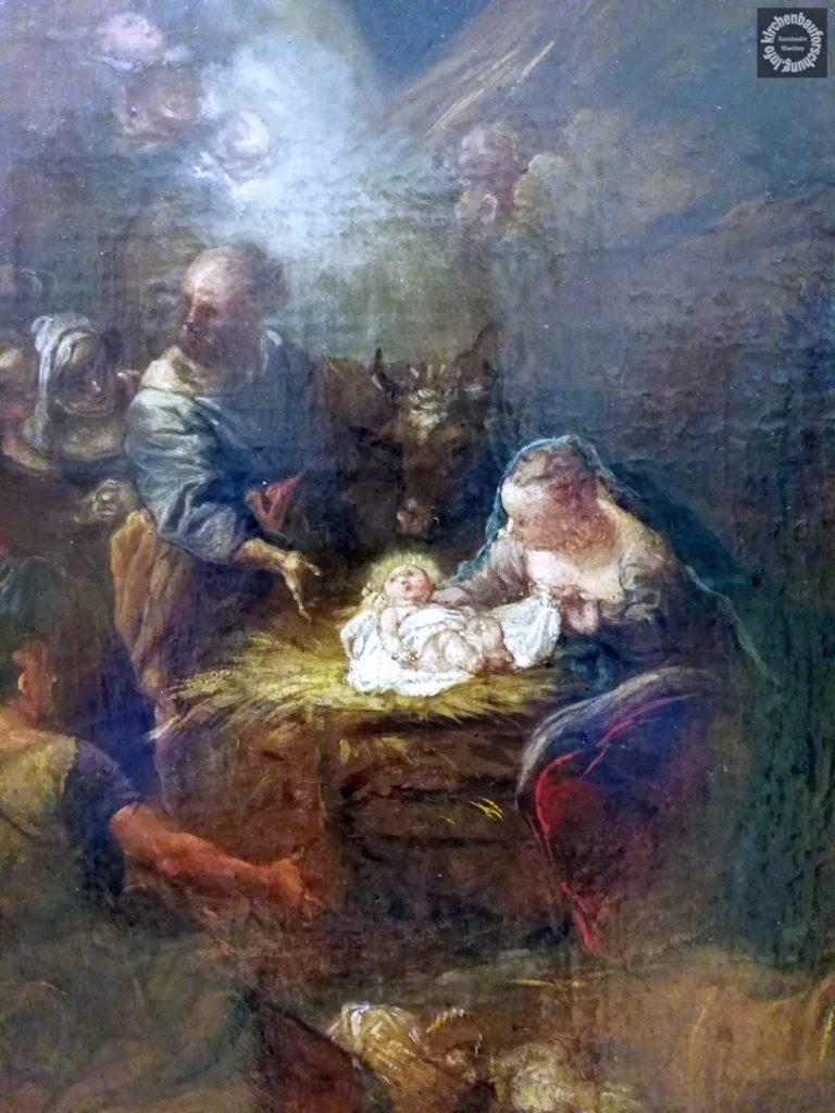 Pesne, Weihnachtsbild, Barock, Bode-Museum, Ideenskizze, Kirchenbauforschung