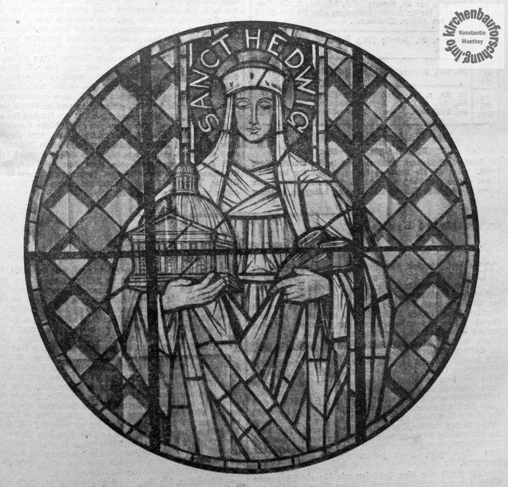 Hedwigsfenster, St. Hedwig, St. Bonifatius, Franz Becker-Tempelburg, kirchenbauforschung