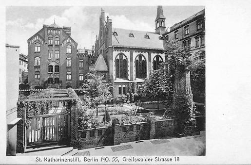 Kirchenführung, Mater Dolorosa, Katharinenstift, St. Gertrud, Greifswalderstraße, Berlin, kirchenbauforschung.info