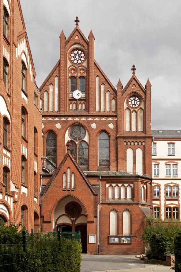 Kirchenführung, Mater Dolorosa, Katharinenstift, St. Gertrud, Greifswalderstraße, Berlin, kirchenbauforschung.info, Constantin Beyer